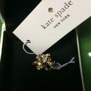 "Kate Spade ""it's a tie"" bow ring"